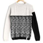 sweater City White top Black bottom