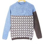 sweater Lasna blue top gray bottom