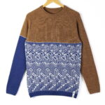 sweater Urban brown top blue bottom