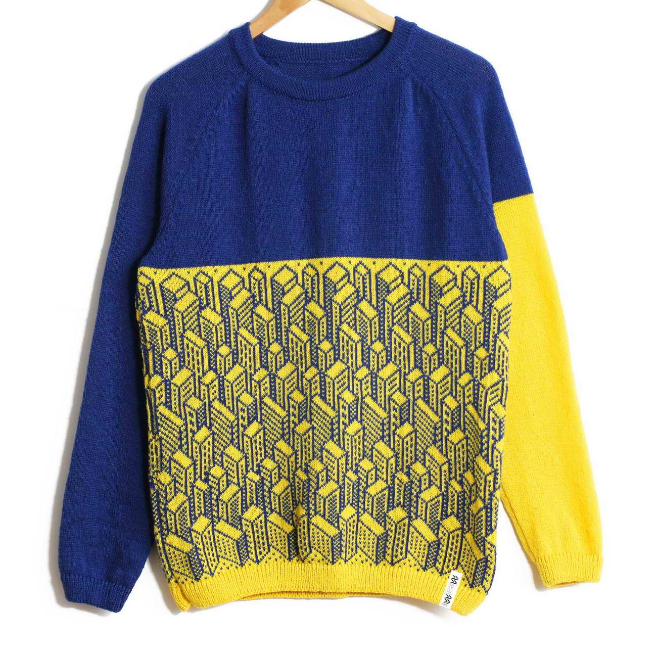 sweater city blue top yellow bottom