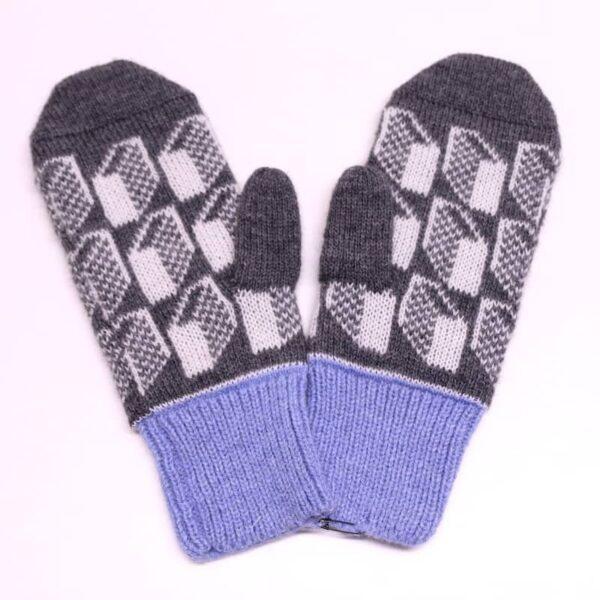 Lasna blue mittens
